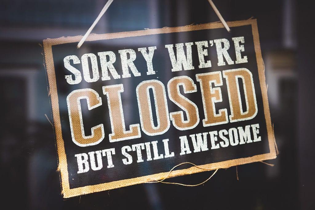Kitchen showroom closed | Lead Wolf